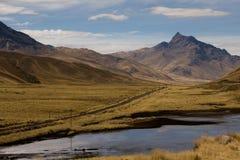 Strada della valle della montagna Immagine Stock