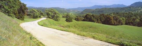 Strada della valle di Carmel Fotografia Stock