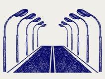 Strada della via royalty illustrazione gratis