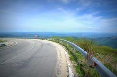 Strada delle alte montagne Fotografia Stock