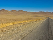 Strada in deserto Immagine Stock