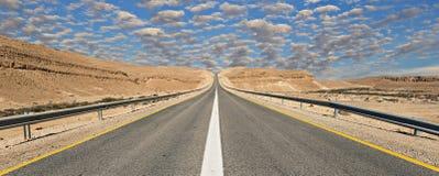 Strada in deserto del Negev, Israele Fotografie Stock
