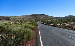 Strada in deserto vulcanico Fotografia Stock