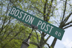 Strada di alberino di Boston Fotografia Stock Libera da Diritti