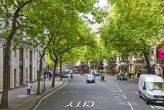 Strada di Aldwych nella città di Westminster Fotografia Stock Libera da Diritti