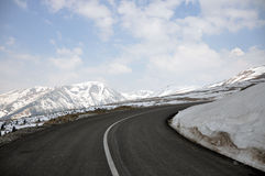 Strada di Alpin Fotografie Stock