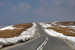 Strada di Alpin al cielo Fotografia Stock