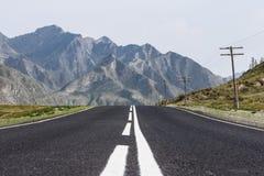 Strada di Altai della montagna Fotografie Stock Libere da Diritti