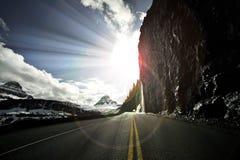 Strada di Andare---Sun Fotografie Stock Libere da Diritti