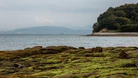 Strada di angelo nell'isola di shodoshima Immagini Stock Libere da Diritti