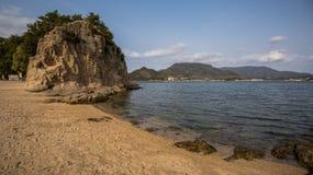 Strada di angelo nell'isola di shodoshima Immagine Stock Libera da Diritti