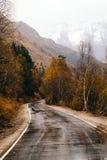 Strada di autunno Fotografie Stock