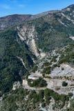 Strada di bobina in Alpes-Maritimes Fotografie Stock