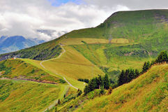 Strada di bobina in alpi francesi Fotografia Stock Libera da Diritti