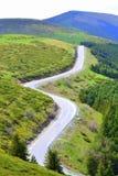 Strada di bobina delle alte montagne Immagine Stock