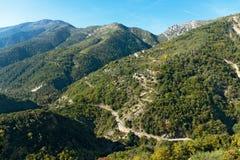 Strada di bobina nel Alpes Immagine Stock Libera da Diritti