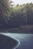 Strada di bobina nella pioggia Fotografia Stock Libera da Diritti