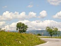 Strada di bobina, Romania Immagine Stock
