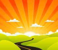 Strada di cielo illustrazione di stock