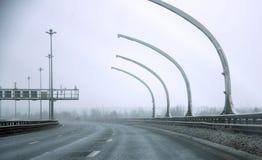 Strada di città nell'inverno Fotografie Stock Libere da Diritti