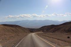 Strada di Death Valley Immagine Stock