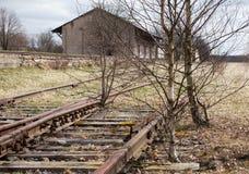 Strada di ferrovia abbandonata Fotografie Stock
