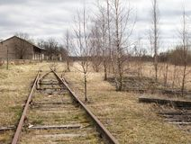 Strada di ferrovia abbandonata Fotografie Stock Libere da Diritti