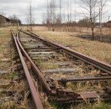 Strada di ferrovia abbandonata Fotografia Stock Libera da Diritti
