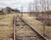 Strada di ferrovia abbandonata Immagine Stock Libera da Diritti