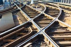 Strada di ferrovia del tram Immagini Stock