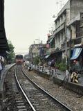 Strada di ferrovia tailandese fotografia stock