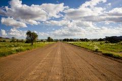 Strada di Graveld nel Namibia Immagini Stock
