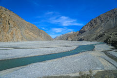 Strada di guida in Kagbeni, Nepal immagini stock libere da diritti