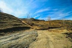 Strada di guida nel muktinath, Nepal fotografia stock libera da diritti