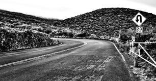 Strada di Haleakala in Maui, Hawai, U.S.A. Fotografia Stock