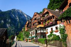 Strada di Hallstatt, Austria Fotografia Stock