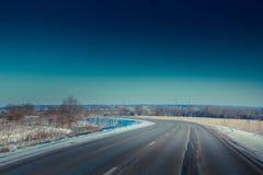Strada di inverno Fotografia Stock