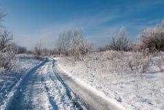 Strada di inverno, Obolon, Kiev Immagini Stock Libere da Diritti