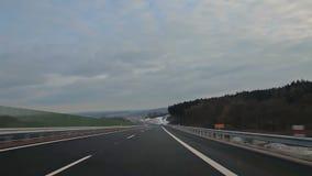 Strada di inverno in repubblica Ceca video d archivio