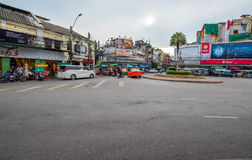 Strada di Khao San a Bangkok, Tailandia Immagini Stock Libere da Diritti