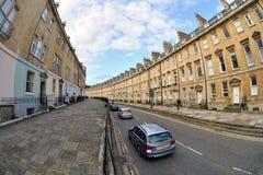 Strada di Lansdown, bagno, Somerset, Inghilterra, Regno Unito fotografia stock