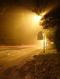 Strada di luce solare di alba Fotografia Stock