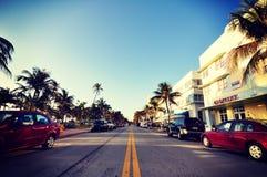 Strada di mattina di Miami a pace di paradiso Immagine Stock Libera da Diritti