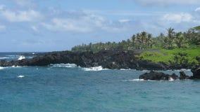 Strada di Maui a Hana Ocean Immagine Stock Libera da Diritti