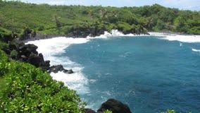 Strada di Maui a Hana Ocean Fotografie Stock Libere da Diritti