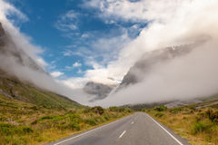 Strada di Milford, isola del sud, Nuova Zelanda Immagine Stock