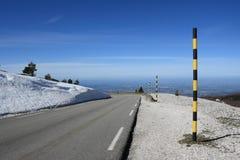 Strada di Mont Ventoux in Francia Immagini Stock Libere da Diritti