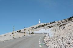 Strada di Mont Ventoux in Francia Fotografie Stock Libere da Diritti
