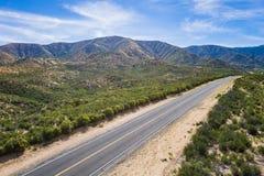 Strada di montagna del deserto da sopra Immagine Stock Libera da Diritti