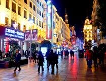 Strada di Nanchino, Shanghai, Cina 2 Immagini Stock Libere da Diritti